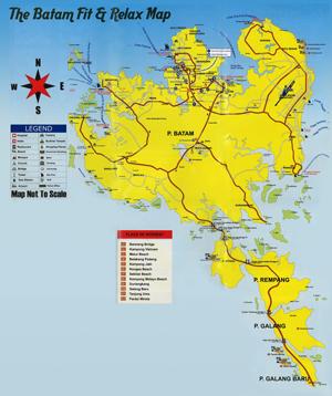バタム島地図